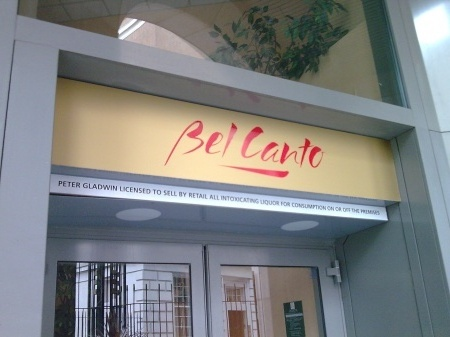 Shop Signs London, Fascia Signs for Bel Cante