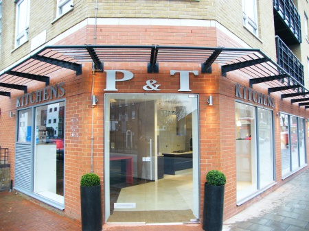 Shop Signs London, Built Up Stainless Steel Letters Signs for P & T