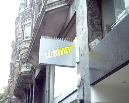 Shop Signs London, Projecting Shop Sign for Subway