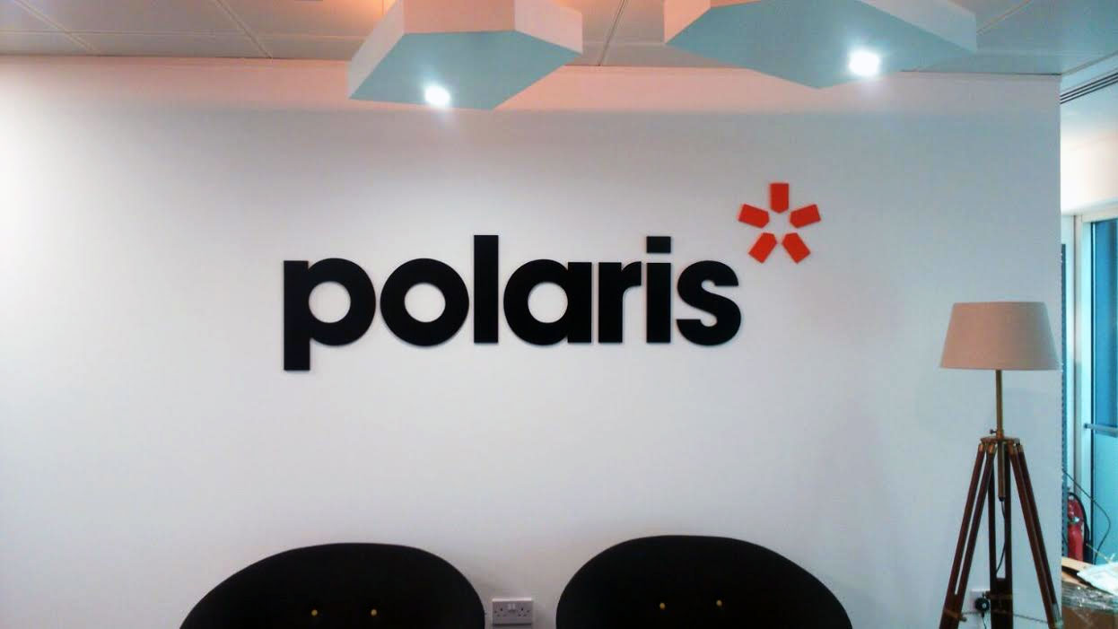 Office Signs London for Polaris, Reception Sign