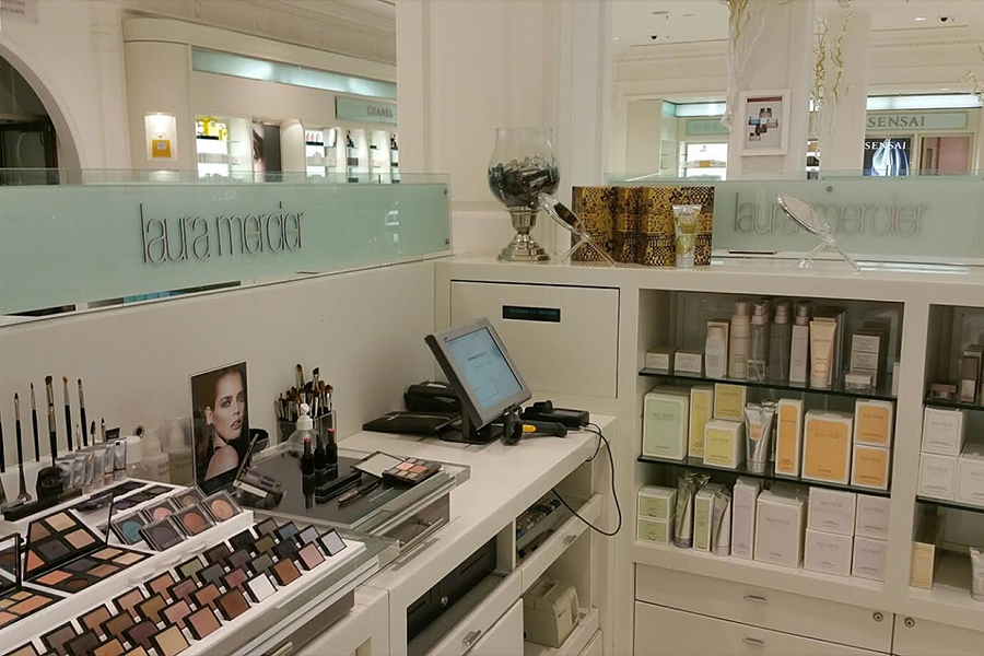 Corporate Retail Signage, Harrods - laura mercier counter